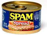A can with spam