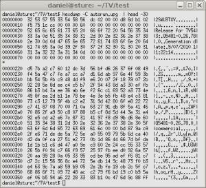 hexdump -C firmware image