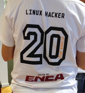 The back of the Enea tshirt
